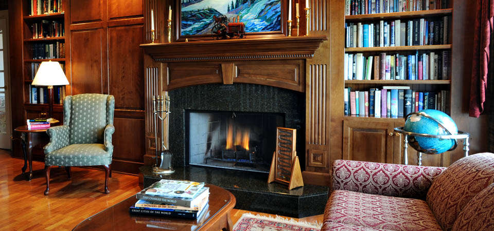 Cozy Fireplace In Our Library